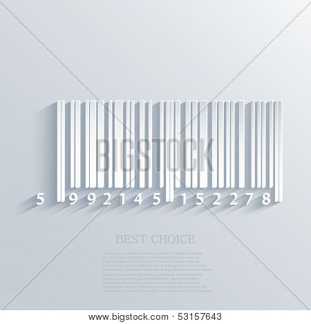 Vector Bar Code Background. Eps10