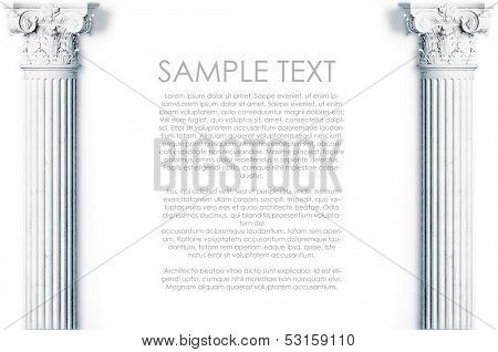 classic wall with antique columns background. Space for your text