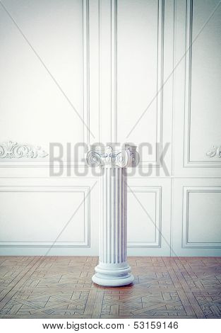classic interior l with column pedestal