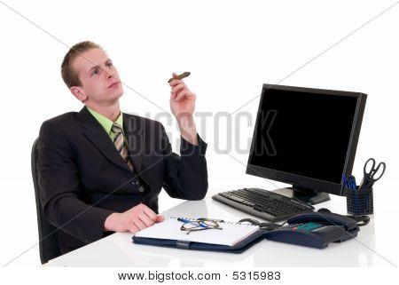 Succesvolle zakenman Office