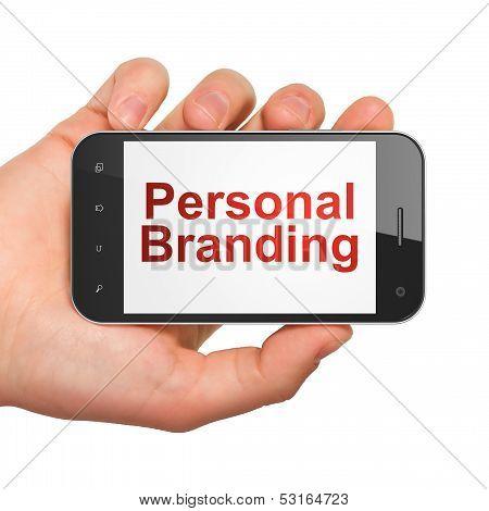 Marketing concept: Personal Branding on smartphone