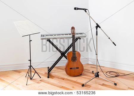 Musical Instruments In A Room