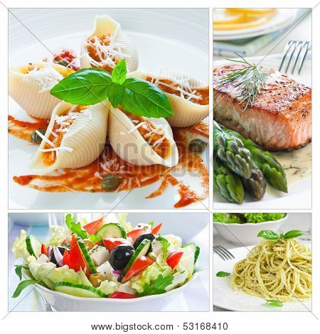 Mediterranean Food Collage