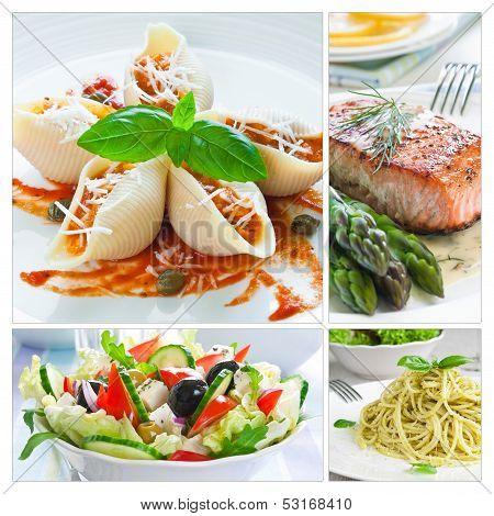 Mediterranean Food Collage