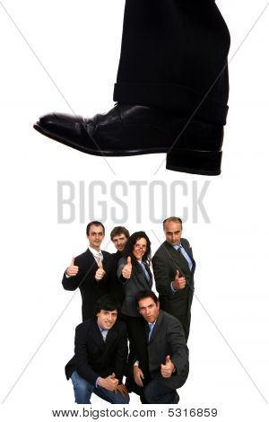Business Shoe Steping And Destroying