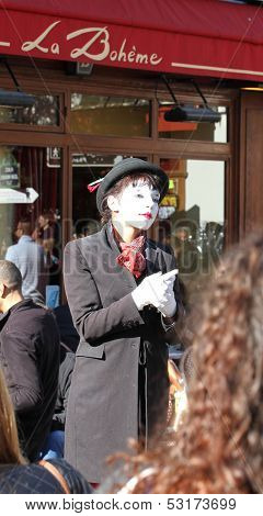Pantomime On Montmartre, Paris