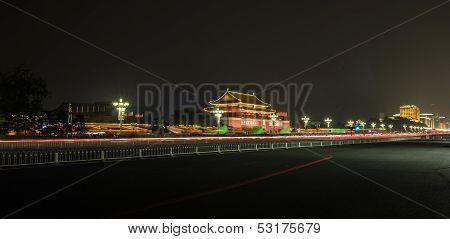 Nightscene of Tiananmen tower