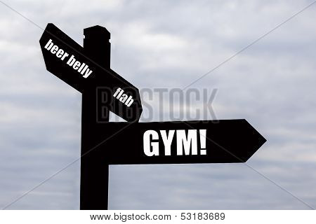 Gym - Health And Fitness Sign Post
