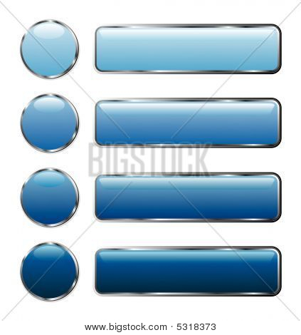 Blue Web Buttons Long