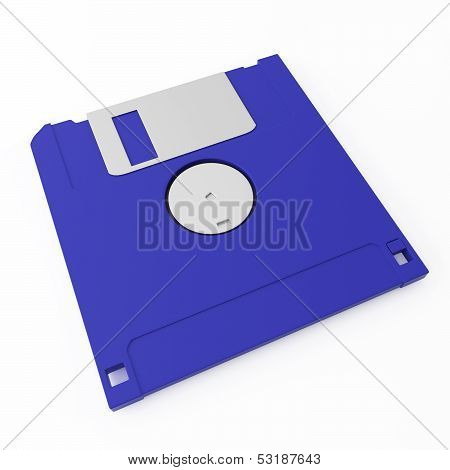 Blue Floppy Disk Back Side