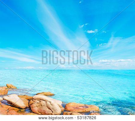 Rocks In The Blue