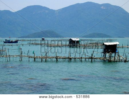 Fishing Huts On The Sea