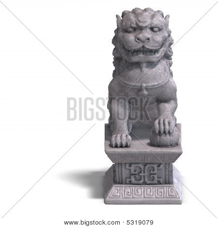 Stone Chinese Foo Dog