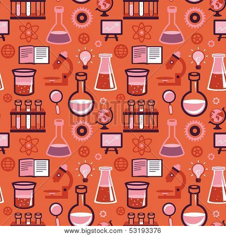 Vector Seamless Pattern - Science And Education