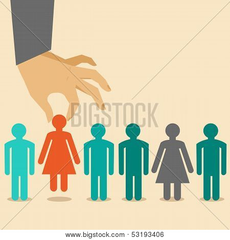 Vector  Human Resources Concept