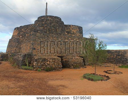 Ancient Castle In Caleta De Fuste. Canary Island Fuerteventura, Spain