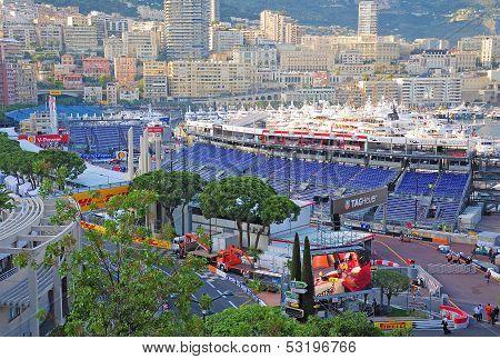 Preparation for the qualifying races of Formula 1 Grand Prix de Monaco.