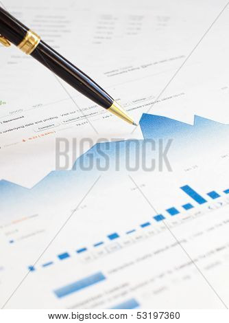 Monitoring of stock market graphs.