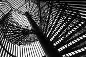 pic of spiral staircase  - Metal modern spiral staircase details - JPG