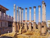 Roman Temple In Cordoba, Spain