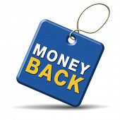 money back guaranteed  sign icon or label. 100% product quality guaranteed.