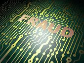Safety concept: circuit board with Fraud