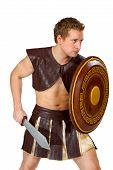 image of perseus  - a young male warrior with a shield - JPG
