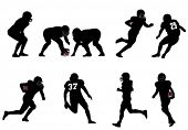 picture of lineman  - American football silhouettes - JPG