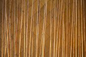 image of partition  - Close up bamboo fence decoration in building used as area partition  - JPG