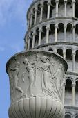 Pot In Front Of The Leaning Tower