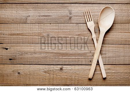 Wooden Fork And Spoon