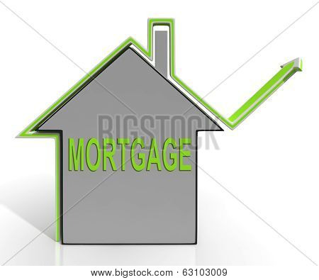 Mortgage House Means Repayments On Property Loan