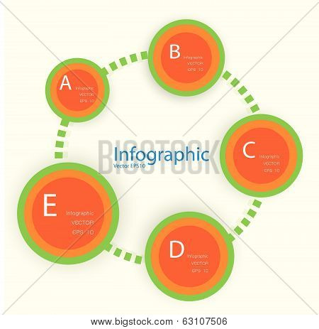 Modern Design Template / Can Be Used For Infographics / Numbered Banners / Horizontal Cutout Lines /