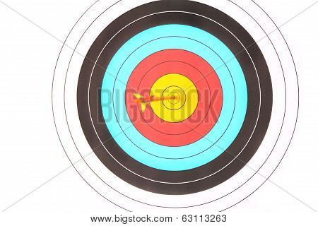 Archery Target With Arrow