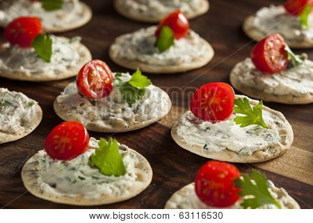 Cracker And Cheese Hors D'oeuvres
