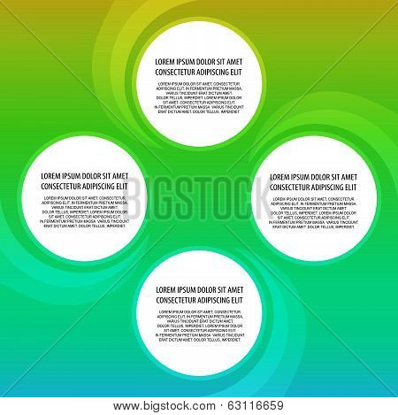 Presentation template with four options