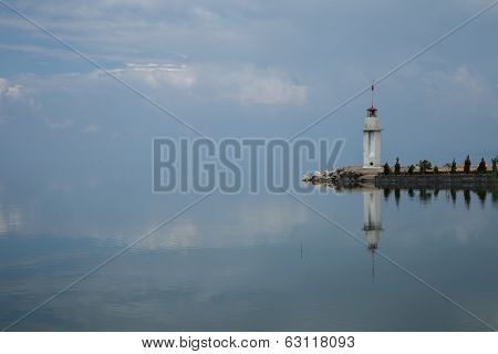Reflected lighthouse