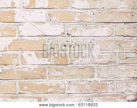 Background Wall Brick, White, Beige Texture