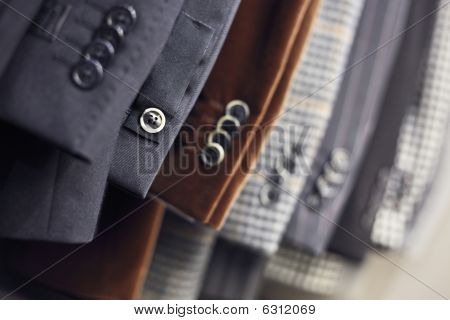 Buttons on a luxurious jackets sleeves