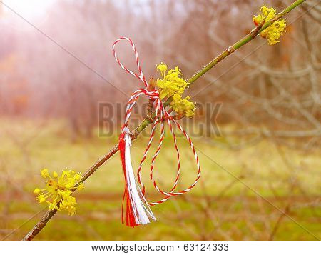 Martisor - romanian symbol of the beginning of spring. This decoration is worn near heart during March month by women for beauty and fertility.