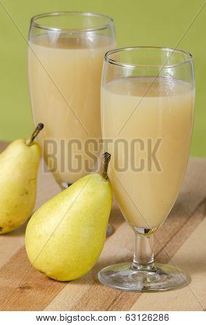 Pear Juice In Glass