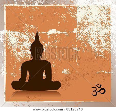 Grunge buddha image