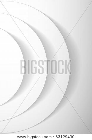 White Abstract Circles With Drop Shadow Background