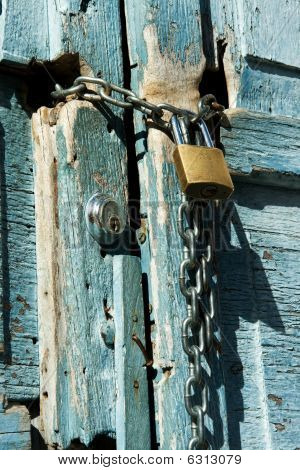 Chain locked door