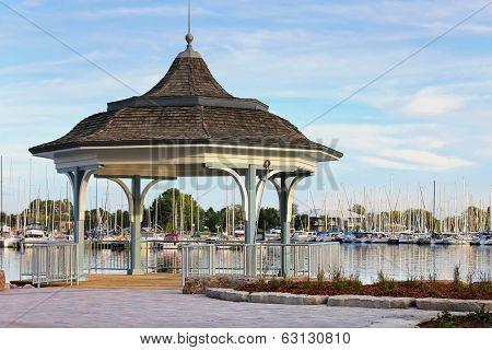 Gazebo view at the marina