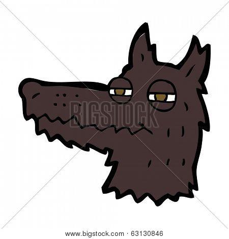 cartoon smug wolf face