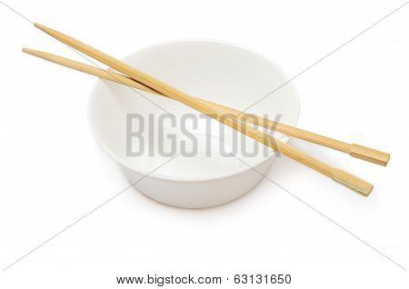 Bowl With Chopsticks