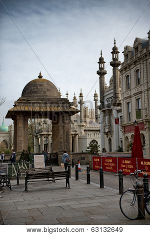 BRIGHTON, UK - APRIL 05: Royal Pavilion Landmark in Brighton, UK on April 05th, 2014.