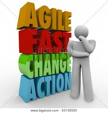 Agile Fast Change Action Words Thinking Person Planning Innovation