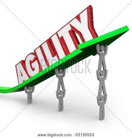 Agility Word Arrow Team Working Together Quick React